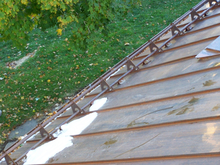 Ice Stopper U201cAt Worku201d. The Only Used Snow Guard System For Metal Roofs ...