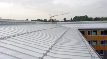 Large standing seam roofs